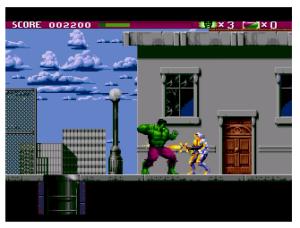 Incredible Hulk Sega Genesis